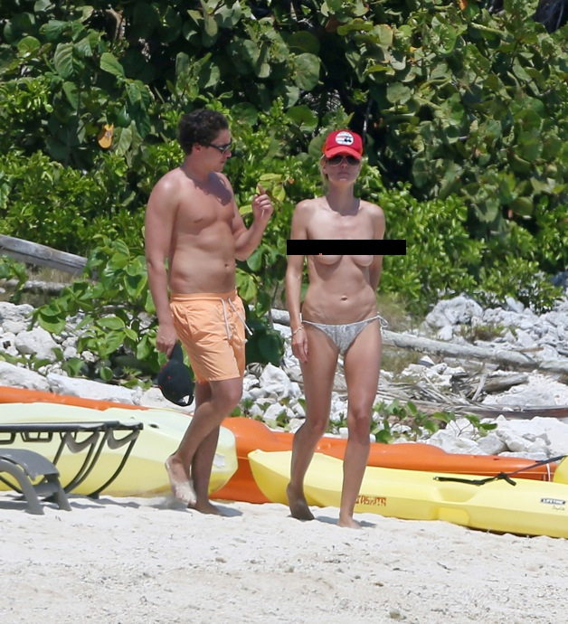 CONTAINS NUDITY: Heidi Klum spends a PDA-filled day on the beach with boyfriend Vito Schnabel in Mexico