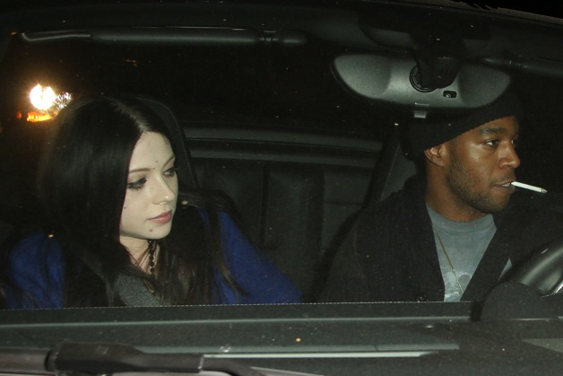 Michelle Trachtenberg and Kid Cudi seen leaving Chateau Marmont in West Hollywood