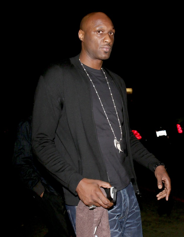 Lamar Odom, French Montana and Khloe Kardashian arrive at Penthouse night club in West Hollywood