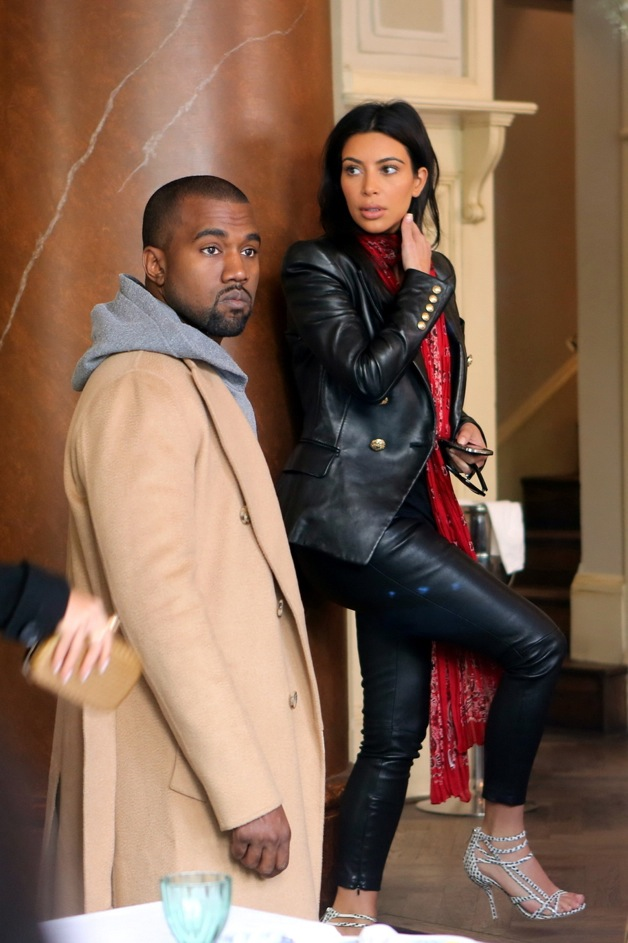 EXCLUSIVE: Newlyweds, Kim Kardashian West and Kanye West seen heading to a restaurant in Prague for dinner