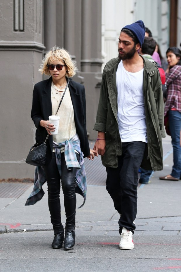 Zoe Kravitz seen out and about with her new boyfriend Noah Gabriel Becker at SoHo in New York City