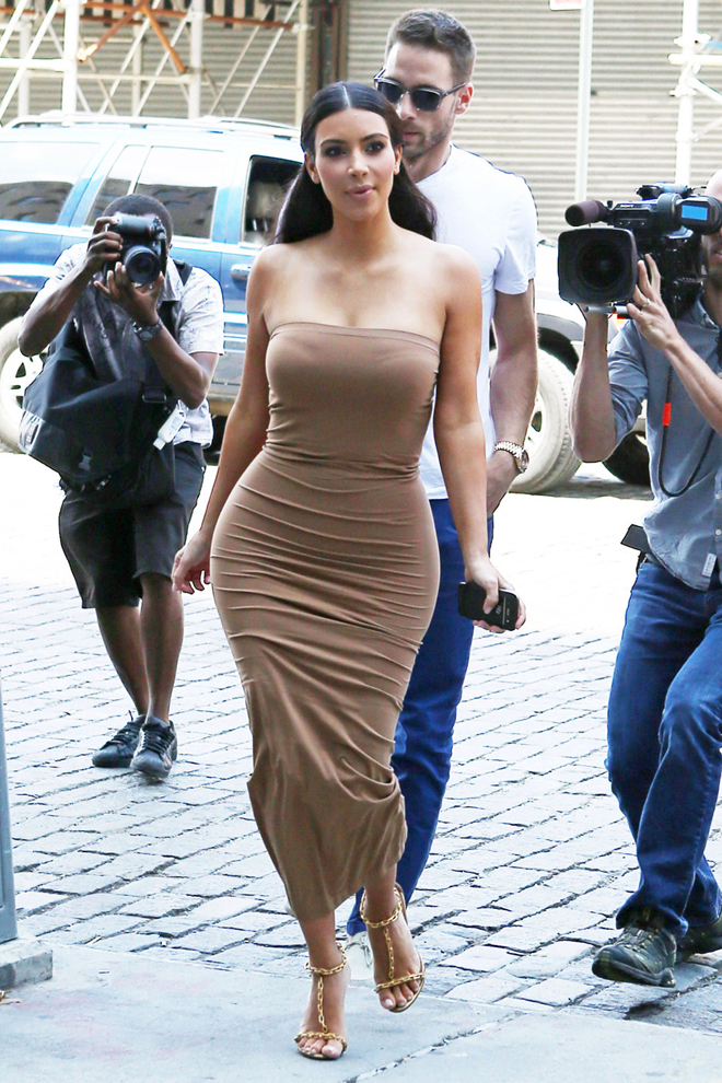 Kim Kardashian and Kris and Kendall Jenner are followed by film crews as they head out in New York City
