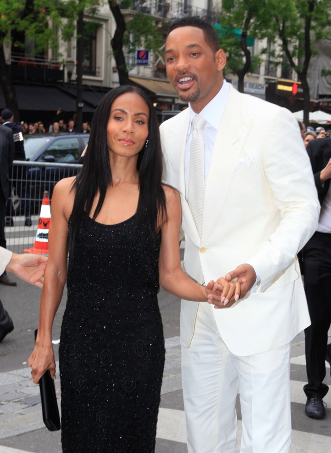 "Will Smith and wife Jada Pinkett Smith attending the ""Men In Black 3"" premiere held at le Grand Rex in Paris"