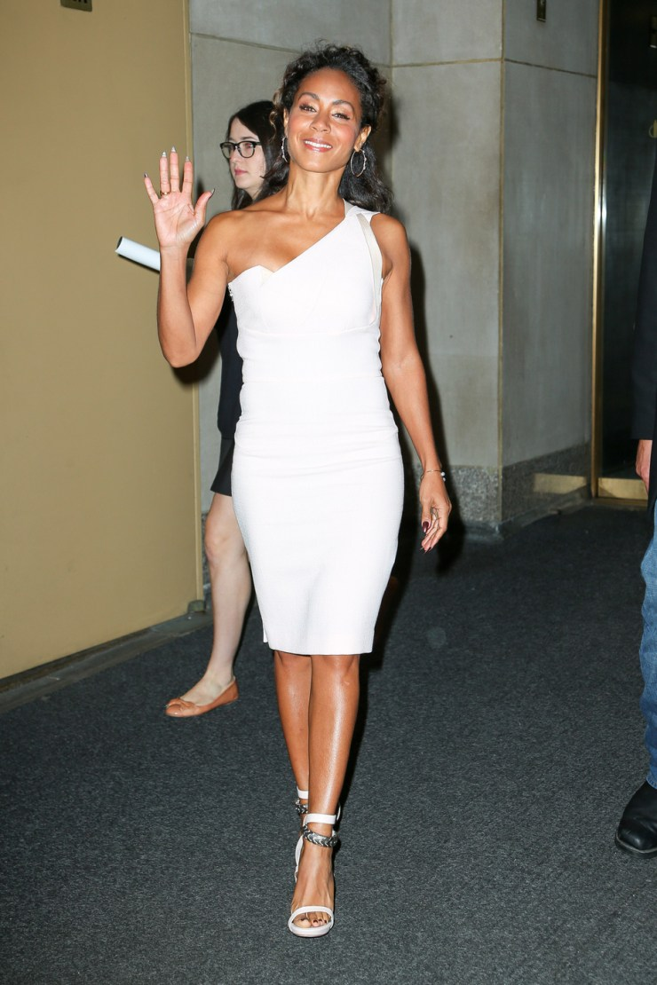Jada Pinkett Smith seen leaving NBC's Today Show in NYC