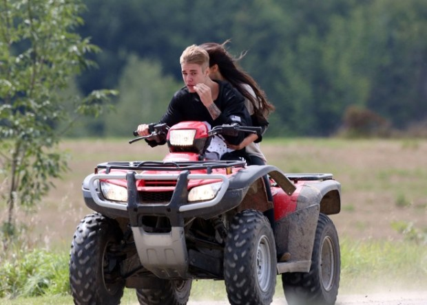 PREMIUM EXCLUSIVE: Justin Bieber and Selena Gomez rekindle their relationship with an ATV ride through Stratford, Canada