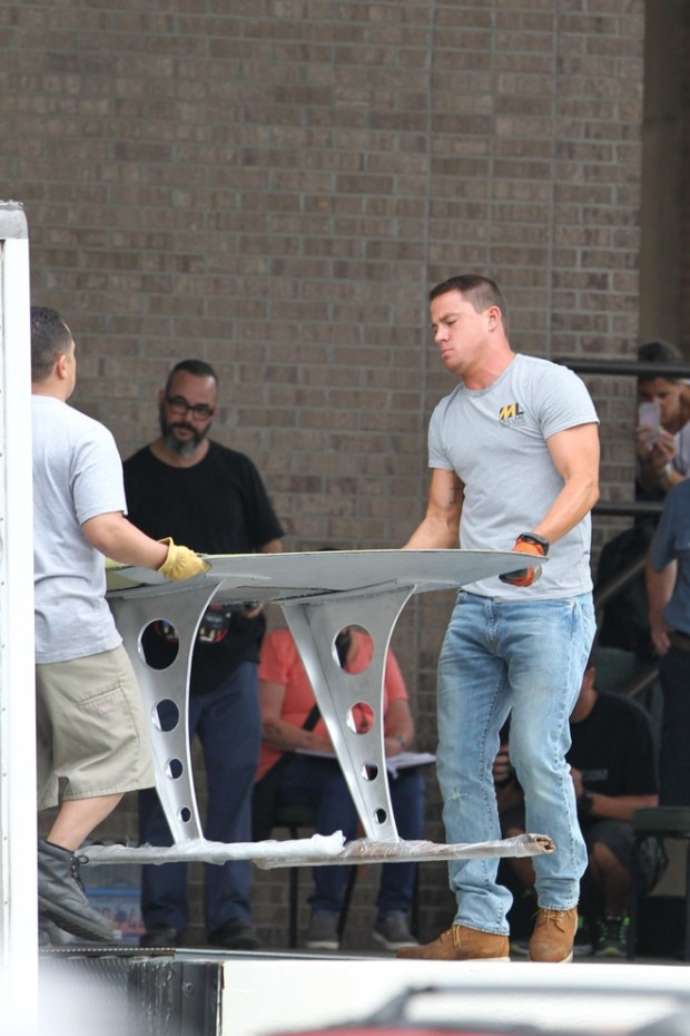 FIRST ON SET PHOTOS: Channing Tatum on the set of Magic Mike XXL filming in Savannah, Georgia