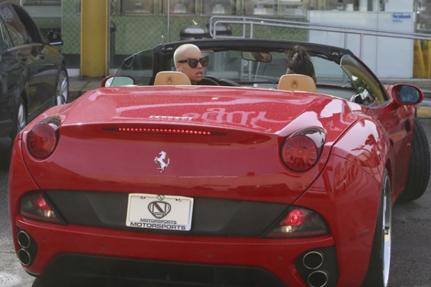 EXCLUSIVE: Amber Rose goes to McDonald's with son Sebastian in LA