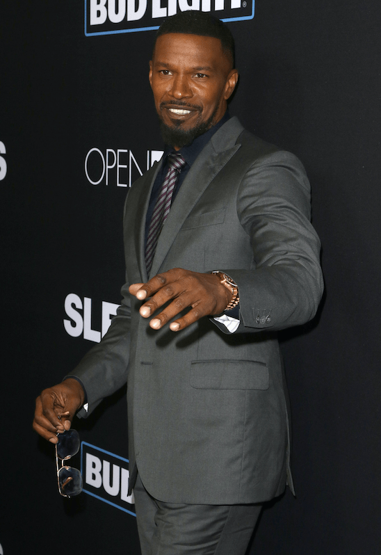 Jamie Foxx attends the premiere of 'Sleepless' at Regal LA Live Stadium. Los Angeles.