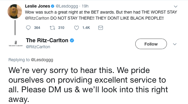 Leslie Jones claims Ritz-Carlton doesn't 'like black people'