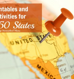 The 50 States Printables and Activities   Hip Homeschool Moms [ 2212 x 3318 Pixel ]