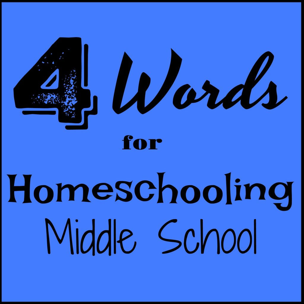 4 Words For Homeschooling Middle School