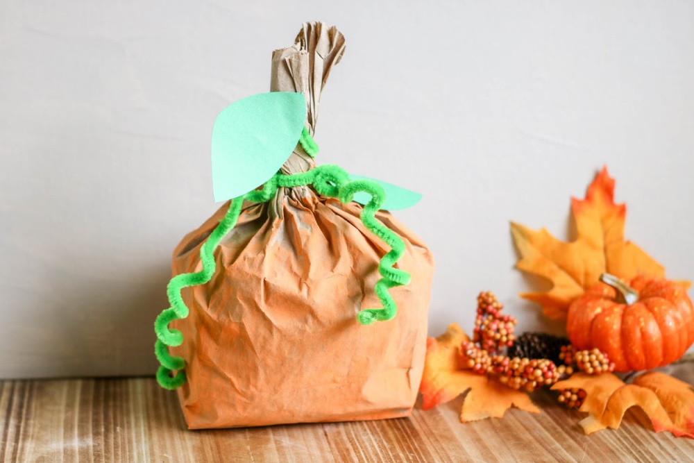 Pumpkin Paper Bag Craft Sample 3 1 1 1
