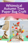 Piin Whimsical Autumn Tree Paper Bag Craft 1