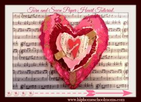 Torn Sewn Paper Heart Tutorial 275x200 1