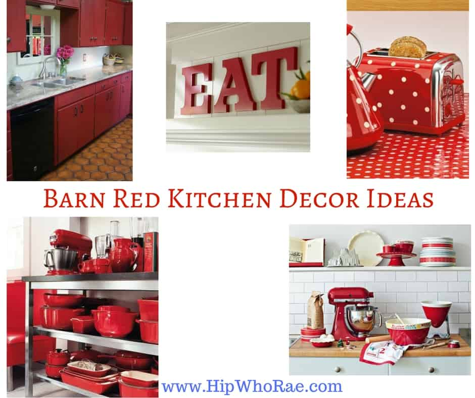 Red Decor For Kitchen: Barn Red Kitchen Decor Ideas