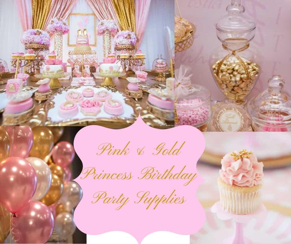 Pink Amp Gold Princess Birthday Party Supplies Hip Hoo Rae