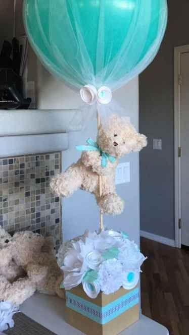 teddy bear baby shower centerpiece