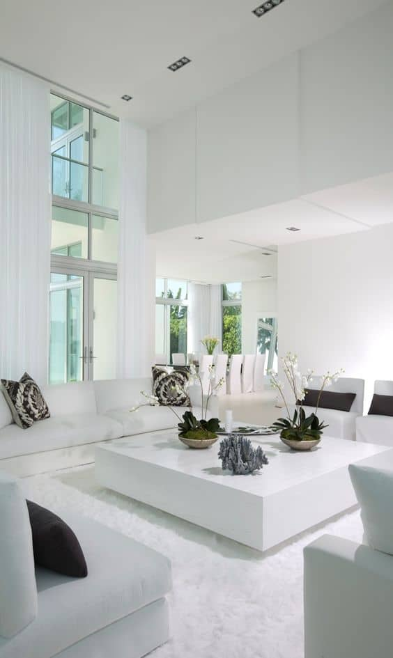 White Very Modern Living Room: Do You Need More Inspiration In Order To Get  Your