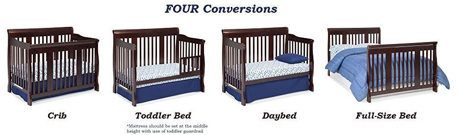 Best Baby Convertible Cribs Converts To Toddler Bed And