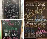 Baby Shower ChalkBoard Ideas - Hip Hoo-Rae