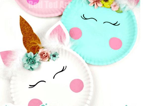 Unicorn Paper Plate Crafts
