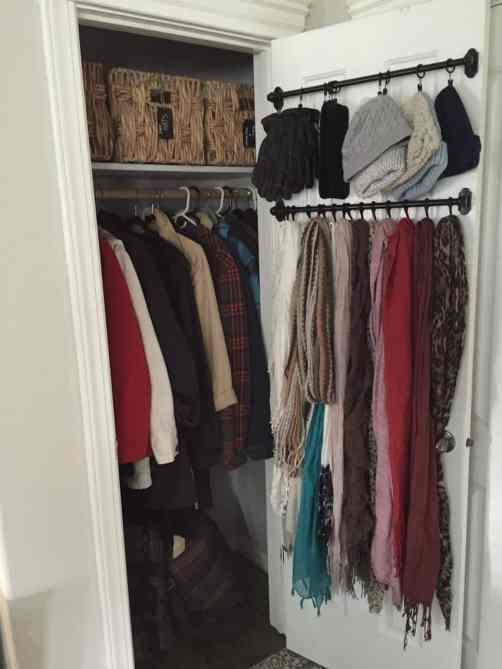 Closet Organization Hacks-Curtain rods for closet