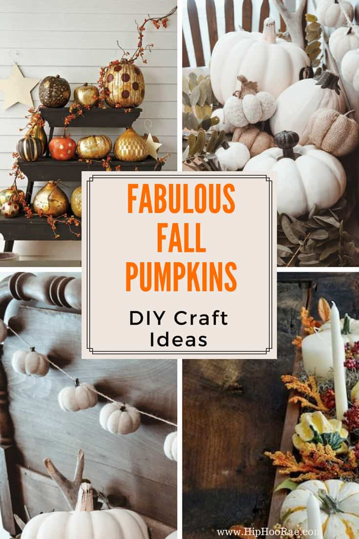 Fabulous Fall Pumpkins- So many ideas to do with them to create a fabulous fall feeling from DIY, Crafts, Home Decor and Food.