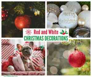 Red and White Christmas Decorations, Ornaments, Crackers, Baubles and Trees
