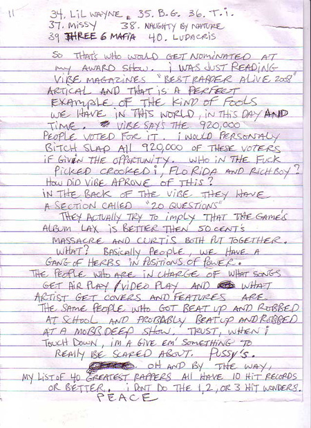 Prodigy writes a letter from Jail naming his 40 Greatest Rappers  HipHopNMore