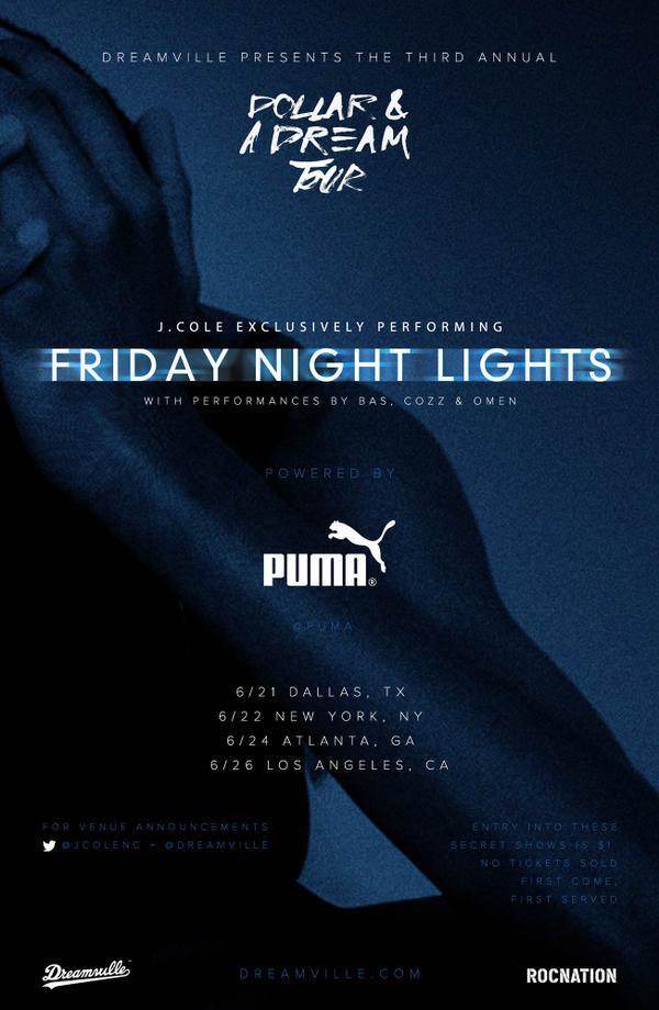 J Cole Friday Night Lights Song List