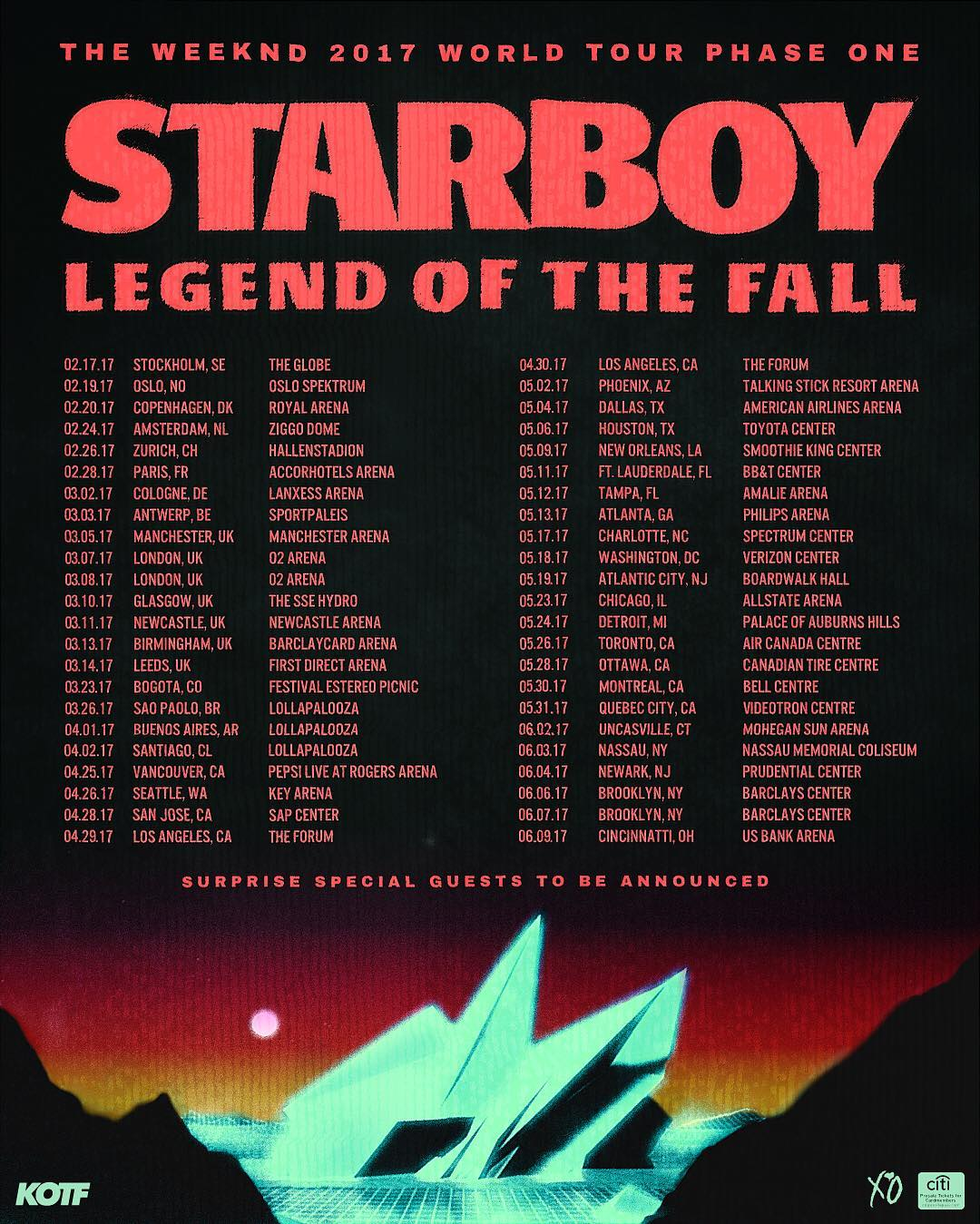 Legend Of The Fall Tour Wallpaper The Weeknd Announces Starboy Legend Of The Fall Tour