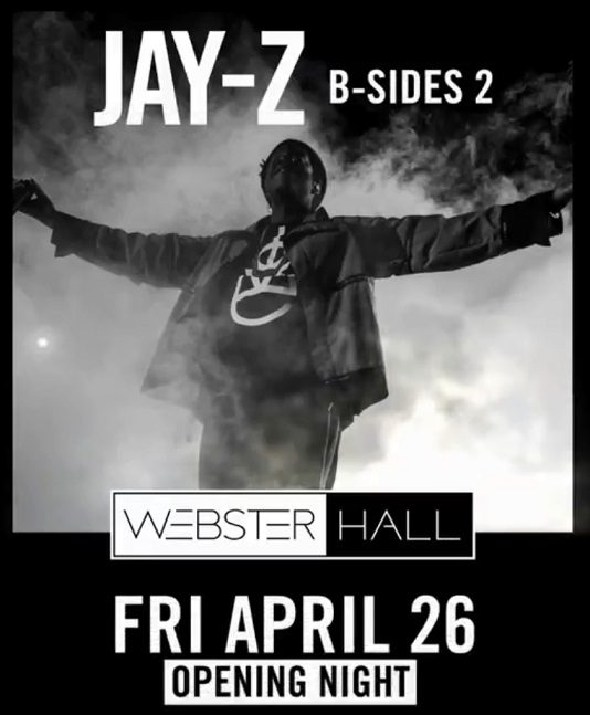 JAY-Z Announces 'B-Sides 2' Show to Re-Open Webster Hall-