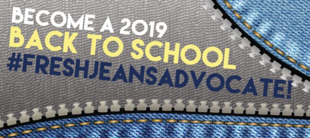 Become a 2019 Back to School #FreshJeansAdvocate!