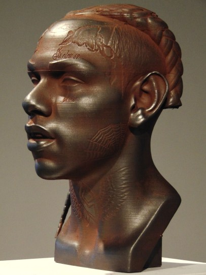 Rodman Edwards, 6ix 9ine, 2019, Iron oxide and graphite on polylactide