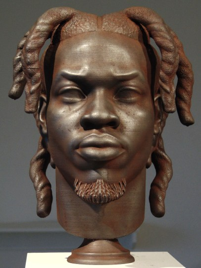 Daniel Edwards, Denzel Curry, 2019, Iron oxide and graphite on polylactide