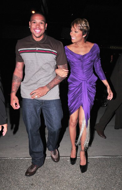 Monica-and-Shannon-Brown-Gucci-Short-Sleeve-Polo-Shirt-Gucci-High-Top-Lace-up-sneaker