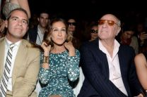 (L-R) TV personality Andy Cohen, Sarah Jessica Parker and Barry Diller attend the Diane Von Furstenberg Spring 2013 show during Mercedes-Benz Fashion Week. (Dimitrios Kambouris / 2012 Getty Images)