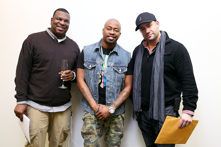 From Left to Right – Jerry Vines, 1228 Management; Raheem DeVaughn; Marcus Siskind, Mass Appeal Entertainment.  Photo Credit:  Studio202/Maya Darasaw