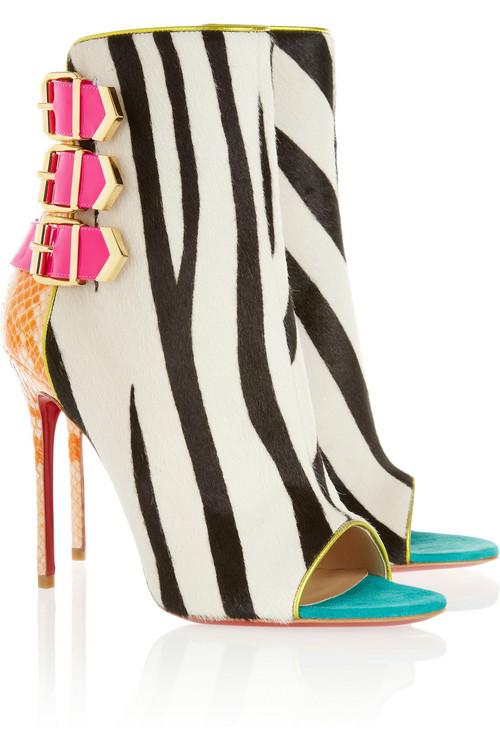Christian-Louboutin-Python-Zebra-Ankle-Boots