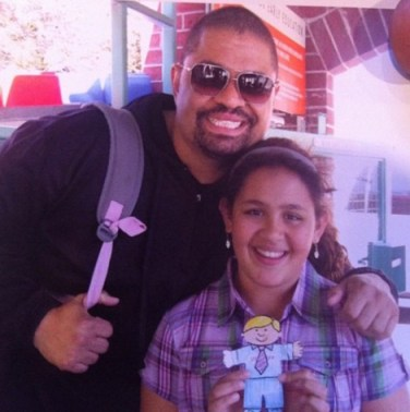 Heavy D and his daughter Xea.