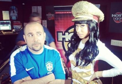 Nicki Minaj and Peter Rosenberg