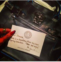 New Bag From Donatella Versace