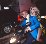 Jay & Bey Riding on Motorcycle