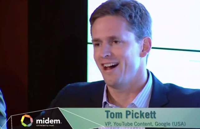 Tom Pickett, Vice President of Content of YouTube. Midem 2014 panel discussion about online video.
