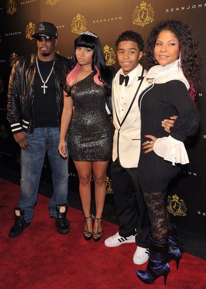 Diddy, Nicki Minaj, Justin Combs and Misa Hlyton-Brim at son's Sweet 16