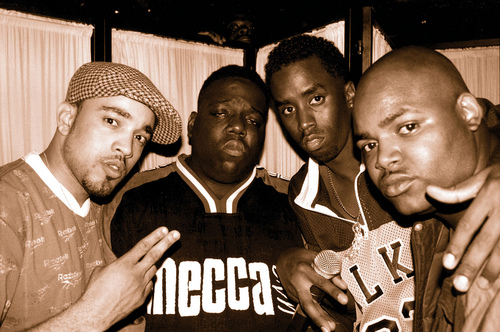 """Deric """"D-Dot"""" Angelettie, The Notorious B.I.G., Diddy and Harve Pierre"""
