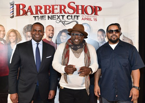"ATLANTA, GA - MARCH 17: (L-R) Atlanta mayor Kasim Reed, actor Cedric The Entertainer, and actor/rapper Ice Cube attend ""Barbershop: The Next Cut"" advanced Atlanta VIP screening at Regal Atlantic Station on March 17, 2016 in Atlanta, Georgia. (Photo by Paras Griffin/Getty Images for Warner Bros) *** Local Caption *** Kasim Reed, Cedric The Entertainer, Ice Cube"