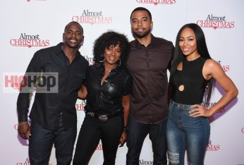 "ATLANTA, GA - OCTOBER 26: Keith Robinson, Vanessa Bell Calloway, Christain Keys, and Dawn Halfkenny attends ""Almost Christmas"" Atlanta screening at Regal Cinemas Atlantic Station Stadium 16 on October 26, 2016 in Atlanta, Georgia. (Photo by Paras Griffin/Getty Images for Universal Pictures)"