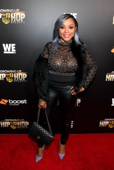 """ATLANTA, GA - JANUARY 09: Gocha Hawkins attends """"Growing Up Hip Hop Atlanta"""" season 2 premiere party at Woodruff Arts Center on January 9, 2018 in Atlanta, Georgia. (Photo by Paras Griffin/Getty Images for WEtv)"""