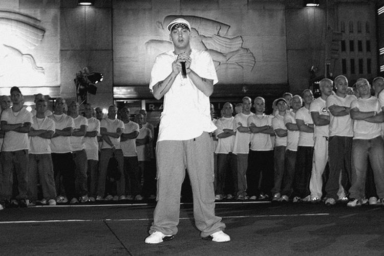 Eminem et son armée de Slim Shady en répétition des MTV Video Music Awards à New York